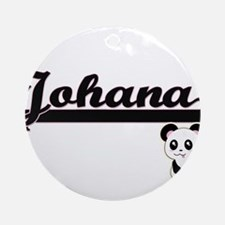 Johana Classic Retro Name Design Ornament (Round)