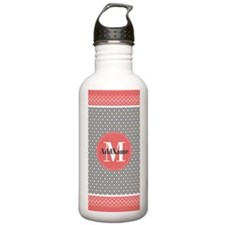 Coral Gray Moroccan Qu Water Bottle
