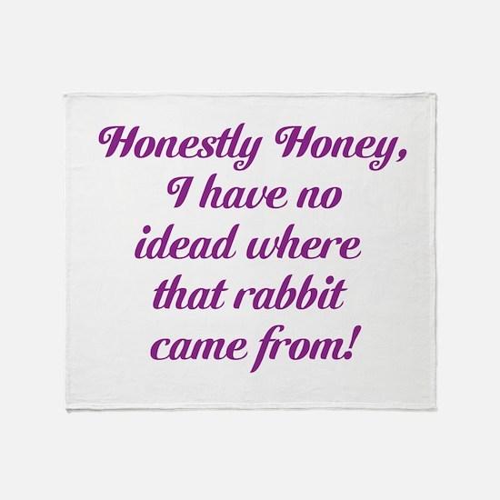 Honestly Honey Throw Blanket