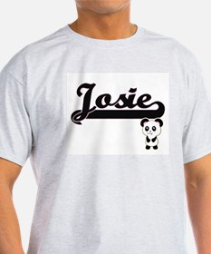 Josie Classic Retro Name Design with Panda T-Shirt