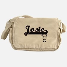 Josie Classic Retro Name Design with Messenger Bag