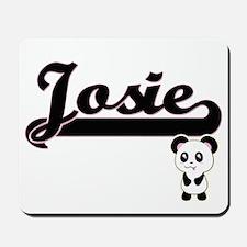 Josie Classic Retro Name Design with Pan Mousepad