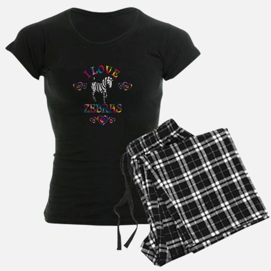 I Love Zebras Pajamas