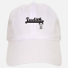 Judith Classic Retro Name Design with Panda Baseball Baseball Cap