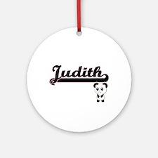 Judith Classic Retro Name Design Ornament (Round)