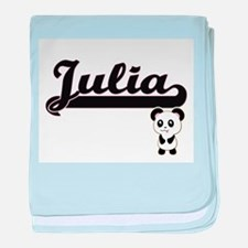 Julia Classic Retro Name Design with baby blanket