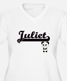 Juliet Classic Retro Name Design Plus Size T-Shirt