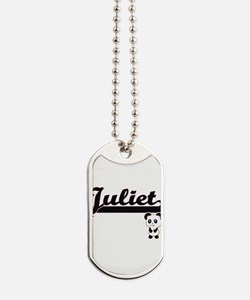 Juliet Classic Retro Name Design with Pan Dog Tags