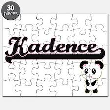 Kadence Classic Retro Name Design with Pand Puzzle