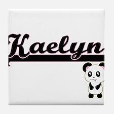 Kaelyn Classic Retro Name Design with Tile Coaster