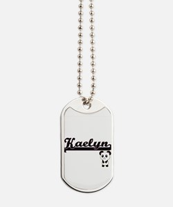 Kaelyn Classic Retro Name Design with Pan Dog Tags