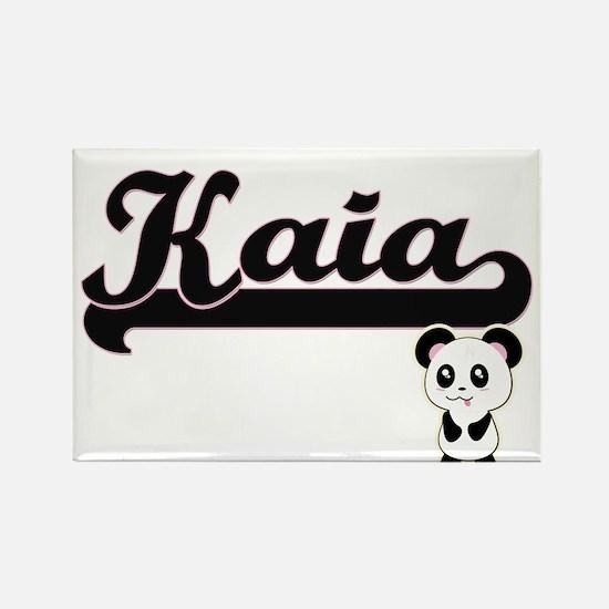 Kaia Classic Retro Name Design with Panda Magnets