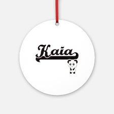 Kaia Classic Retro Name Design wi Ornament (Round)