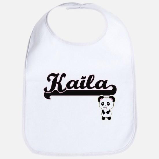 Kaila Classic Retro Name Design with Panda Bib