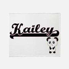 Kailey Classic Retro Name Design wit Throw Blanket