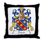 Devos Family Crest Throw Pillow