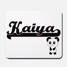 Kaiya Classic Retro Name Design with Pan Mousepad