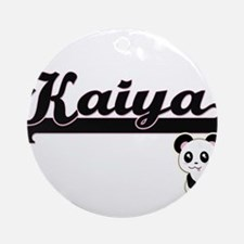 Kaiya Classic Retro Name Design w Ornament (Round)