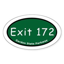 Exit 172 - CR 2 - Upper Sadd Oval Decal