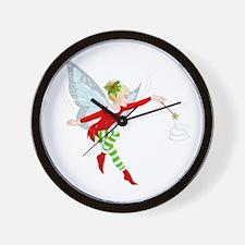 Holiday Fairy Wall Clock