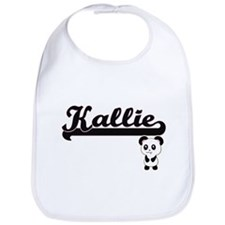 Kallie Classic Retro Name Design with Panda Bib