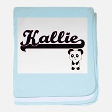 Kallie Classic Retro Name Design with baby blanket