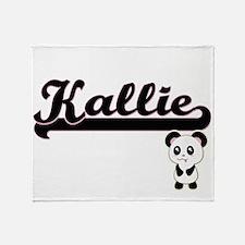 Kallie Classic Retro Name Design wit Throw Blanket