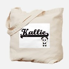 Kallie Classic Retro Name Design with Pan Tote Bag