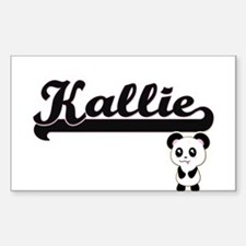 Kallie Classic Retro Name Design with Pand Decal