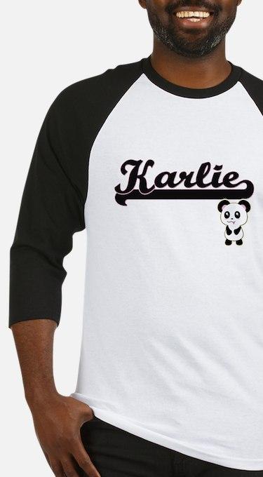 Karlie Classic Retro Name Design w Baseball Jersey