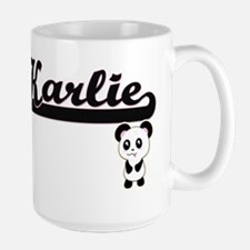 Karlie Classic Retro Name Design with Panda Mugs