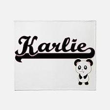 Karlie Classic Retro Name Design wit Throw Blanket