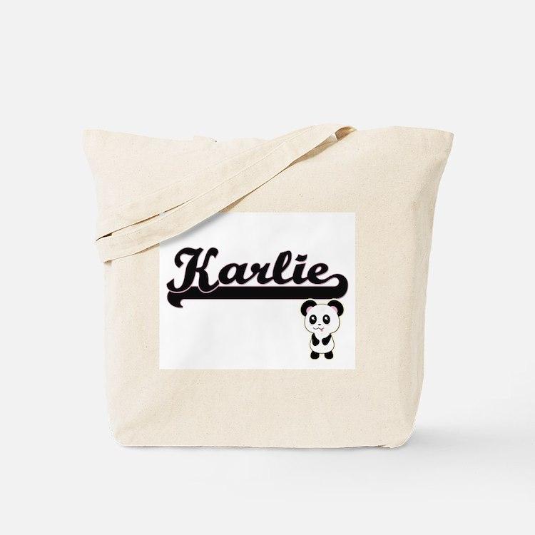 Karlie Classic Retro Name Design with Pan Tote Bag