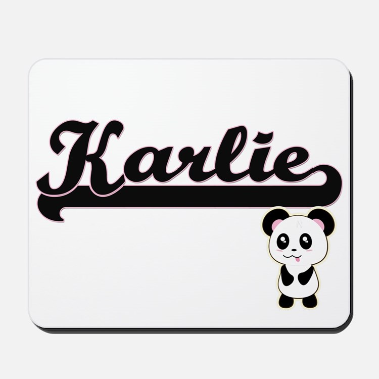 Karlie Classic Retro Name Design with Pa Mousepad
