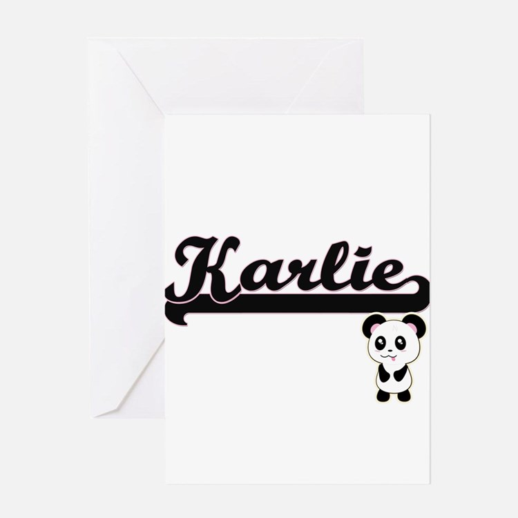 Karlie Classic Retro Name Design wi Greeting Cards