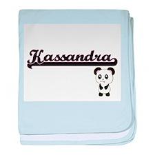 Kassandra Classic Retro Name Design w baby blanket