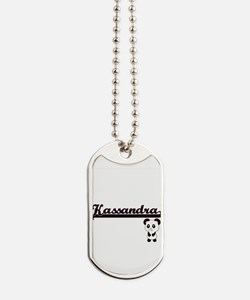 Kassandra Classic Retro Name Design with Dog Tags
