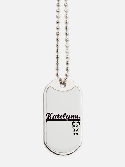 Katelynn Classic Retro Name Design with P Dog Tags