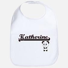 Katherine Classic Retro Name Design with Panda Bib