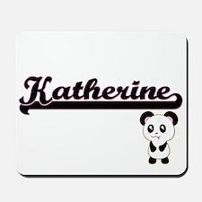 Katherine Classic Retro Name Design with Mousepad