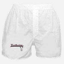 Katherine Classic Retro Name Design w Boxer Shorts