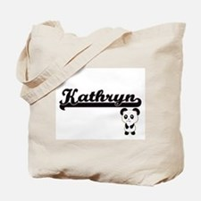 Kathryn Classic Retro Name Design with Pa Tote Bag