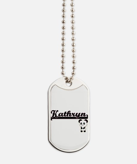 Kathryn Classic Retro Name Design with Pa Dog Tags