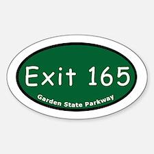 Exit 165 - East Ridgewood Av Oval Decal