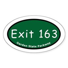 Exit 163 - NJ 17 - To NJ 4 / Oval Decal