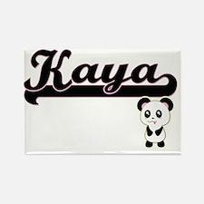 Kaya Classic Retro Name Design with Panda Magnets