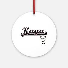 Kaya Classic Retro Name Design wi Ornament (Round)