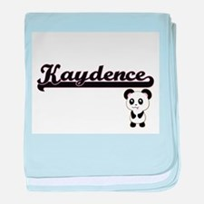 Kaydence Classic Retro Name Design wi baby blanket