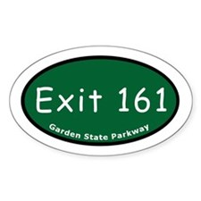 Exit 161 - NJ 4 - Teaneck / Oval Decal