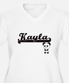 Kayla Classic Retro Name Design Plus Size T-Shirt